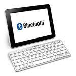 kwmobile Clavier Bluetooth sans fil - Clavier allemand QWERTZ - Keyboard pour par ex. ordinateur PC tablette - Compatible Mac iOS iPad Windows - Blanc de la marque kwmobile image 2 produit