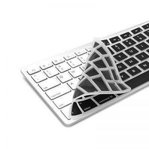 kwmobile protection de clavier QWERTY (US) robuste, fine en silicone pour Apple Clavier sans fil avec pavé numérique en noir - protection effective contre saleté et usure de la marque kwmobile image 0 produit