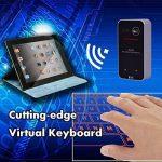 LeeHur Portable Mini Sans Fil Bluetooth QWERTY Laser Projection Clavier virtuel et Souris pour iPhone iPad Desktop PC Tablet Android Phone - Noir de la marque LeeHur image 4 produit
