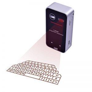 LeeHur Portable Mini Sans Fil Bluetooth QWERTY Laser Projection Clavier virtuel et Souris pour iPhone iPad Desktop PC Tablet Android Phone - Noir de la marque LeeHur image 0 produit