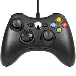 LESHP Manette filaire Xbox 360, Filaire GamePad Controller, Manette du Contrôleur de Jeu Filaire avec Double Vibration Pour PC / Android / TV Box (Xbox 360-Noir) de la marque LESHP image 0 produit