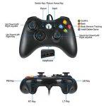 LESHP Manette filaire Xbox 360, Filaire GamePad Controller, Manette du Contrôleur de Jeu Filaire avec Double Vibration Pour PC / Android / TV Box (Xbox 360-Noir) de la marque LESHP image 2 produit