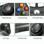 LESHP Manette filaire Xbox 360, Filaire GamePad Controller, Manette du Contrôleur de Jeu Filaire avec Double Vibration Pour PC / Android / TV Box (Xbox 360-Noir) de la marque LESHP image 1 produit