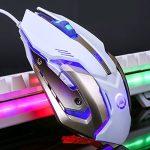 Lexonelec® clavier Gaming Mouse Définit Combo filaire V1à rétroéclairage LED multimédia USB clavier ergonomique de jeu en métal étanche + 3200DPI Régler 7couleurs Respirer lumière optique Gamer Mouse Définit + Gaming Tapis de souris de la marque LexonEl image 4 produit