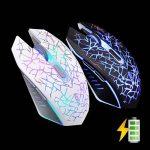 Lexonelec® Wireless Mouse Gamer Azzor M6Silencieux Mute LED respiration lumière 2400dpi Régler ergonomique USB Optique Crack 6boutons de jeu Gaming Mouse pour ordinateur portable PC Ordinateur de la marque LexonElec® image 2 produit