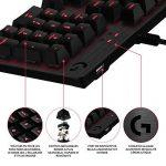 Logitech G413 Clavier gaming mécanique Romer-G avec port USB (Carbon) - Azerty Layout de la marque Logitech image 2 produit