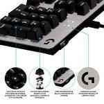 Logitech G413 Clavier gaming mécanique Romer-G avec port USB (Silver) - Azerty Layout de la marque Logitech image 2 produit