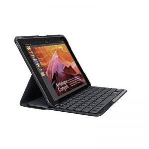 Logitech iPad Slim Folio, étui avec Clavier sans Fil et Bluetooth, Compatible avec iPad 5ème Génération (Clavier Français AZERTY) - Noir de la marque Logitech image 0 produit