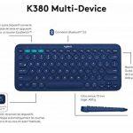 Logitech K380 Clavier Bluetooth Azerty pour Windows, Mac et Android Bleu de la marque Logitech image 4 produit