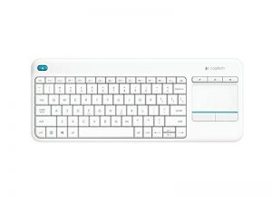 Logitech K400 Plus Clavier sans-fil Azerty pour PC de Salon, Media center et HTPC Blanc de la marque Logitech image 0 produit