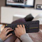 Logitech K400 Plus Clavier sans-fil Azerty pour PC de Salon, Media center et HTPC Gris Foncé de la marque Logitech image 5 produit