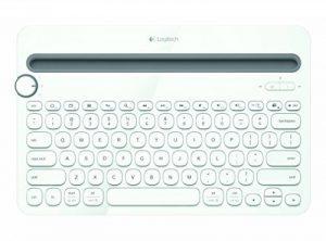 Logitech K480 Clavier Bluetooth Multi-Device sans fil pour PC, Smartphone et Tablette (AZERTY) Blanc de la marque Logitech image 0 produit
