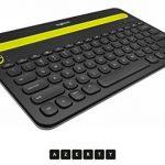 Logitech K480 Clavier BluetoothMulti-Devicesans fil pour PC, Smartphone et Tablette (AZERTY) Noir de la marque Logitech image 2 produit