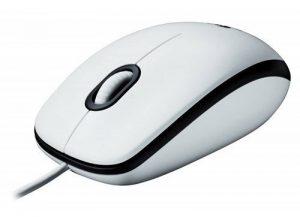 Logitech Mouse M100 Souris filaire Suivi optique Adaptée aux droitiers et aux gauchers Blanc de la marque Logitech image 0 produit