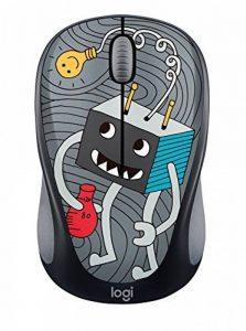 Logitech Souris sans Fil M238 Doodle Collection avec 15 Stickers Premium, Autonomie Batterie de 12 Mois - pour Windows, Mac, Chrome OS et Linux - LIGHTBULB de la marque Logitech image 0 produit