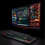 MECO Clavier Gaming Mécanique AZERTY, 105 Touches Anti-ghosting, Design Ergonomique, Touches de programme, Clavier de Jeu Rétro-éclairage RGB de la marque MECO image 1 produit