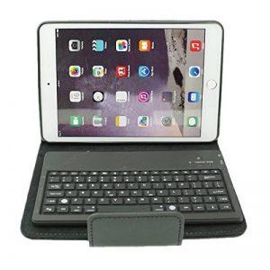 Mimi-tech Coque en cuir avec clavier sans fil Bluetooth en silicone amovible pour IPAD mini séries, Noir de la marque dizauL image 0 produit