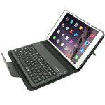 Mimi-tech Coque en cuir avec clavier sans fil Bluetooth en silicone amovible pour IPAD mini séries, Noir de la marque dizauL image 1 produit