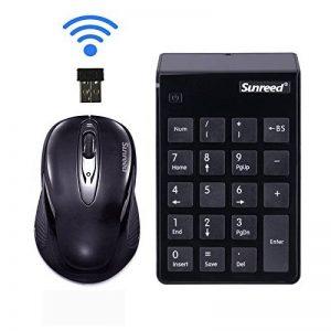Mini clavier, 2 en 1 clavier Ensemble (mise à niveau Verson) clavier et souris optique combos 2,4 G Mini USB clavier numérique avec récepteur USB pour bureau pour ordinateur portable PC de bureau ordinateur portable, d'économie d'énergie blanc (black) de image 0 produit