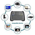 Mini clavier avec rétro-éclairage LED bleu, Dootoper 2,4 GHz Clavier sans fil / 10 mètres Plage / 76 touches (2 touches spéciales) / appropriées pour Smart TV, TV-Box Android, HTPC, IPTV, XBOX360, PC, PAD, PS3, tablettes, etc. de la marque image 2 produit