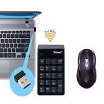Mini clavier et souris, clavier sans fil et souris optique combos 2,4 G Mini USB 19 touches Pad pavé numérique pour ordinateur portable de bureau ordinateur de bureau, d'économie d'énergie (black) de la marque langking image 2 produit