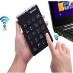 Mini clavier et souris, clavier sans fil et souris optique combos 2,4 G Mini USB 19 touches Pad pavé numérique pour ordinateur portable de bureau ordinateur de bureau, d'économie d'énergie (black) de la marque langking image 4 produit