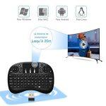 Mini Clavier Sans Fil, GooBang Doo Clavier Bluetooth Portable 2.4GHz avec Touchpad Pavé Compatible avec Box Android TV, PC, Ordinateur Portable, Raspberry Pi, Smart TV, Xbox 360, Projecteur, PS3, HTPC de la marque ABOX image 1 produit