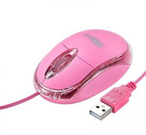 Mini Souris Filaire Petite Optique Portable Laser LED Pour PC Ordinateur Rose de SOONGO de la marque SOONGO image 0 produit