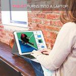 MoKo Coque pour Nouvel iPad 9,7 2017 - Etui Housse avec Clavier sans fil Bluetooth en QWERTY pour Tablette Apple Nouvel iPad 9,7 Pocues 2017, Or Rose de la marque MoKo image 3 produit