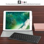 MoKo Coque pour Nouvel iPad 9,7 2017 - Etui Housse avec Clavier sans fil Bluetooth en QWERTY pour Tablette Apple Nouvel iPad 9,7 Pocues 2017, Or Rose de la marque MoKo image 2 produit