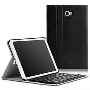 """MoKo Etui Samsung Tab A 10.1 Housse - étui avec Clavier sans Fil Bluetooth en QWERTY pour Tablette Samsung Galaxy Tab A (2016) Tablette tactile 10,1"""", NOIR de la marque MoKo image 0 produit"""