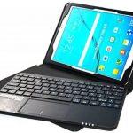 MQ pour Galaxy Tab S2 9.7 - Etui avec clavier bluetooth et pavé tactile intégré multifonctionnel, Clavier français (AZERTY) pour Samsung Galaxy Tab S2 9.7 LTE SM-T815, SM-T819 | Clavier Bluetooth et pavé tactile avec pochette pour Galaxy Tab S2 9.7 WiFi S image 2 produit