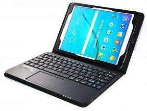 MQ pour Galaxy Tab S2 9.7 - Etui avec clavier bluetooth et pavé tactile intégré multifonctionnel, Clavier français (AZERTY) pour Samsung Galaxy Tab S2 9.7 LTE SM-T815, SM-T819 | Clavier Bluetooth et pavé tactile avec pochette pour Galaxy Tab S2 9.7 WiFi S image 0 produit