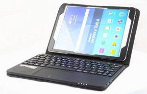 MQ pour Samsung Galaxy Tab A 10.1 - Etui avec clavier et pavé tactile intégré, Clavier français (AZERTY) | Housse avec clavier Bluetooth et pavé tactile pour Galaxy Tab A 10.1 WiFi SM-T580, Galaxy Tab A 10.1 LTE SM-T585 de la marque SonnyGoldTech image 0 produit