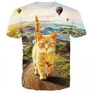 NEWISTAR Unisexe imprimé 3D Manches Courtes T-Shirt Manches Courtes de la marque NEWISTAR image 0 produit