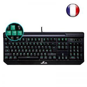 (Nouveauté)Rii K61c Clavier de Jeu Mécanique pour Pro Gaming, Rétro-éclairage de Macro Définition, Version Française-AZERTY de la marque Rii image 0 produit