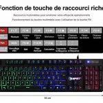 NPET K10 Version Améliorée ! AZERTY Clavier Gaming Gamer Filaire Port USB Keyboard Rétroéclairé - Noir de la marque NPET image 3 produit