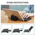 OMOTON Clavier Bluetooth Français AZERTY Accentué avec Support Ultra Mince pour Tablette IOS,iPad Air, iPhone,Clavier Sans Fil Noir de la marque OMOTON image 1 produit