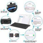OMOTON Clavier Bluetooth Français AZERTY Accentué avec Support Ultra Mince pour Tablette IOS,iPad Air, iPhone,Clavier Sans Fil Noir de la marque OMOTON image 3 produit