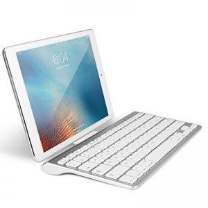OMOTON Clavier Bluetooth IOS Français AZERTY Accentué avec Support Ultra Mince pour Tablette IOS,iPad Air, iPhone,Clavier Sans Fil Blanc de la marque OMOTON image 0 produit