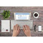 OMOTON Clavier Bluetooth IOS Français AZERTY Accentué avec Support Ultra Mince pour Tablette IOS,iPad Air, iPhone,Clavier Sans Fil Blanc de la marque OMOTON image 4 produit