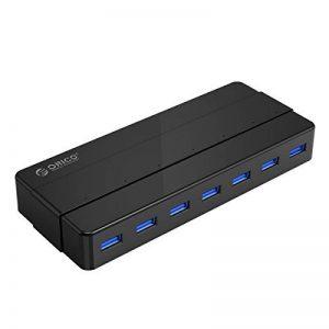 ORICO USB 3.0 7 Port Hub avec adaptateur de puissance 36W Transfert de données 5.0 Gbps et compatible avec Windows XP / Vista / 7/8/10 / Linux et Mac, Noir de la marque ORICO image 0 produit