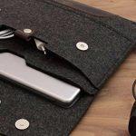 """Pack & Smooch iPad Pro 10.5"""" Case Sleeve Housse En Feutre De Laine 100 % Mérinos Et Cuir Naturel à Tannage Végétal Antracite/Brun de la marque Pack-Smooch image 4 produit"""