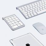 Pavé numérique Alcey Clavier Numérique sans-fil de 22 touches avec Mini récepteur USB 2.4G pour iMac, MacBook, ordinateur de bureau et portable - Argent de la marque Alcey image 6 produit