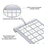 Pavé numérique Alcey Clavier Numérique sans-fil de 22 touches avec Mini récepteur USB 2.4G pour iMac, MacBook, ordinateur de bureau et portable - Argent de la marque Alcey image 2 produit