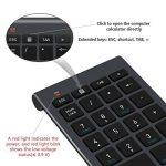 Pavé numérique Alcey Clavier Numérique sans-fil de 22 touches avec Mini récepteur USB 2.4G pour iMac, MacBook, ordinateur de bureau et portable - noir de la marque Alcey image 1 produit