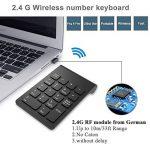 Pavé numérique Sans Fil 18touches clavier numérique avec 2.4G récepteur USB pour iMac/MacBook Windows pour ordinateur portable de bureau de la marque x-dodd image 1 produit