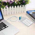 Pavé Numérique USB, Alcey Finition Aluminium Pavé Numérique USB avec Concentrateur USB 3.0 et Adaptateur Son Externe Stéréo Intégré de la marque Alcey image 2 produit