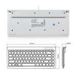 Perixx PERIBOARD-407 Mini Clavier Filaire - 320x141x25mm - Port USB - Blanc - AZERTY de la marque perixx image 3 produit