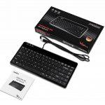 Perixx PERIBOARD-409H, Mini clavier filaire - 2xUSB 2.0 Hub - 315x147x20mm - Noir - AZERTY de la marque perixx image 4 produit